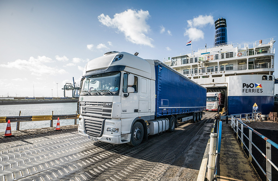 P&O Ferries freight loading